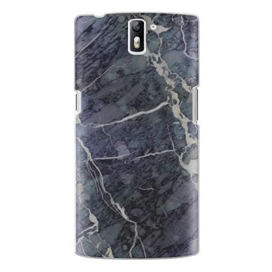 One Plus One Cases - Blue Stone Marble