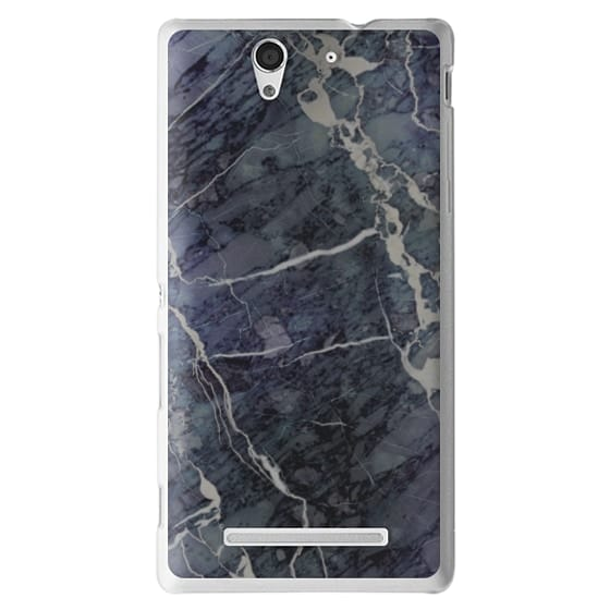 Sony C3 Cases - Blue Stone Marble