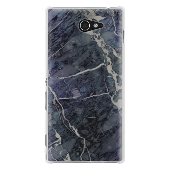 Sony M2 Cases - Blue Stone Marble