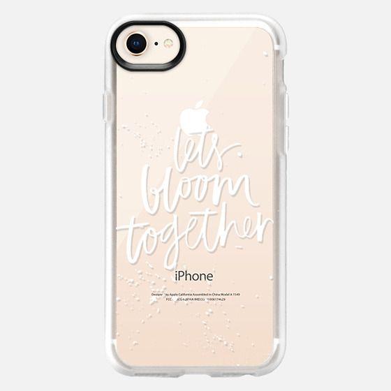 Let's Bloom Together (White) - Snap Case