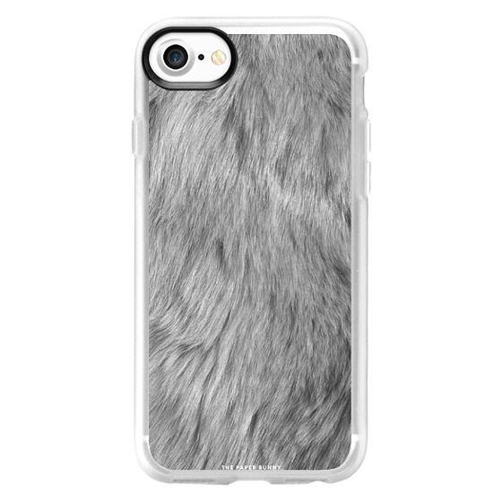 iPhone 7 Cases - Grey Fur Luxe