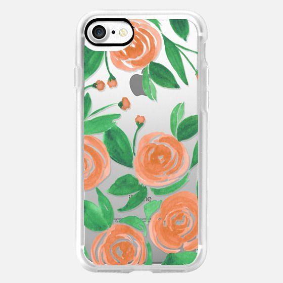 Watercolor Phone Case - Tropical Roses