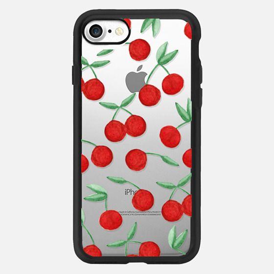Cherry Bomb Red Watercolor Cherries -