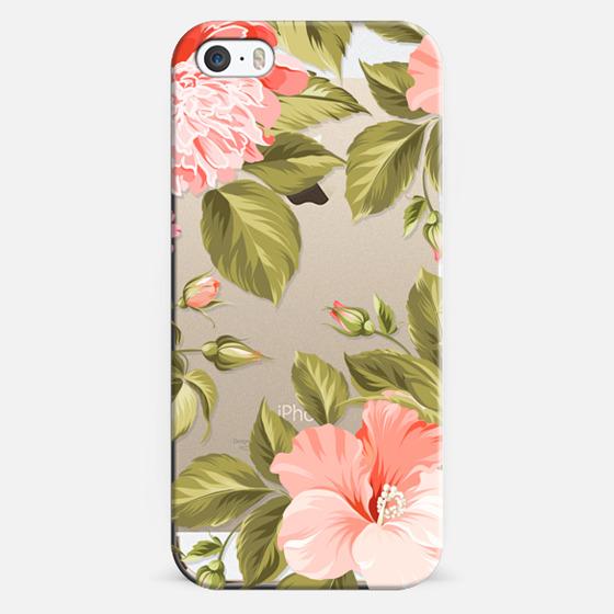 iPhone 5s Capa - Peach Tropical Flowers - Beach Floral