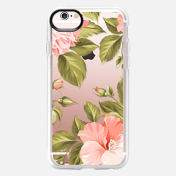 iPhone 6s Case - Peach Tropical Flowers - Beach Floral
