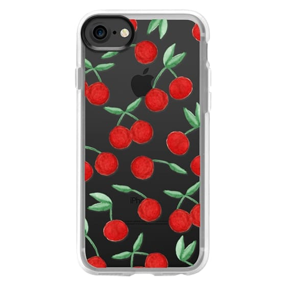 new product d5028 5ca56 Classic Grip iPhone 7 Case - Cherry Bomb Red Watercolor Cherries