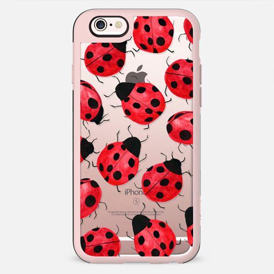 Cute Ladybug - Watercolor Ladybugs Red Black - New Standard Case