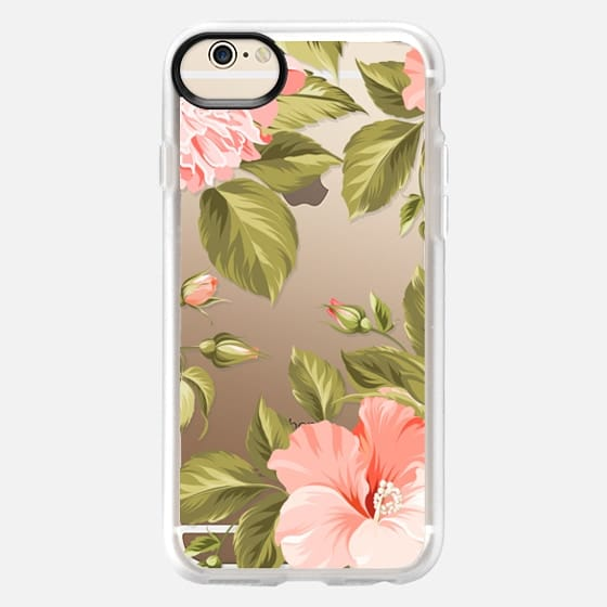 iPhone 6 Hülle - Peach Tropical Flowers - Beach Floral
