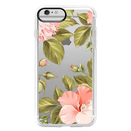 iPhone 6 Plus Cases - Peach Tropical Flowers - Beach Floral