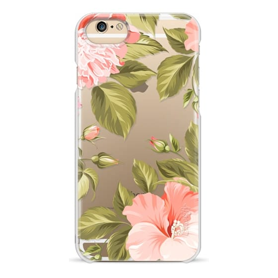 iPhone 6 Cases - Peach Tropical Flowers - Beach Floral