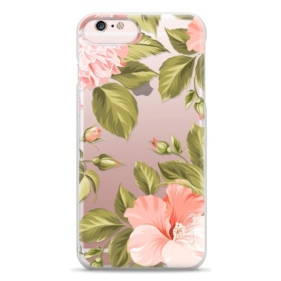 iPhone 6s Plus Cases - Peach Tropical Flowers - Beach Floral