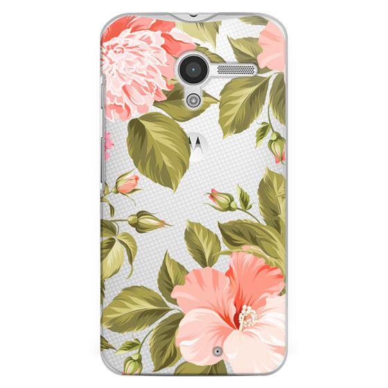 Moto X Cases - Peach Tropical Flowers - Beach Floral