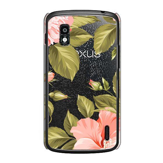 Nexus 4 Cases - Peach Tropical Flowers - Beach Floral