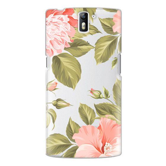 One Plus One Cases - Peach Tropical Flowers - Beach Floral