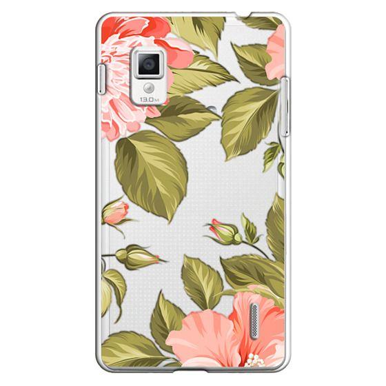 Optimus G Cases - Peach Tropical Flowers - Beach Floral