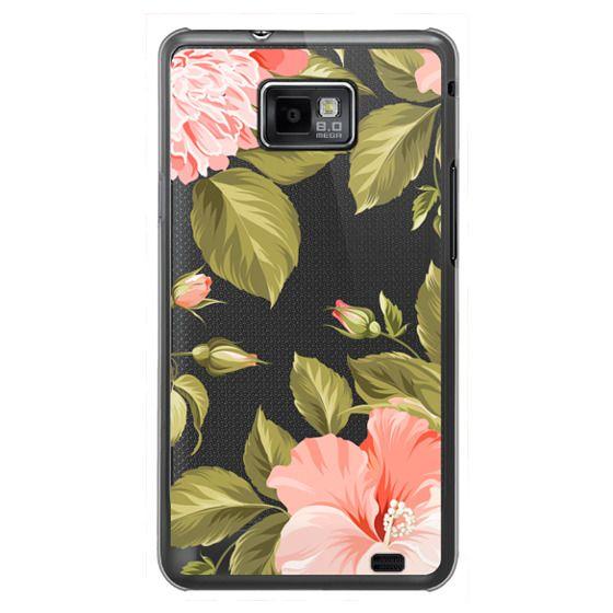 Samsung Galaxy S2 Cases - Peach Tropical Flowers - Beach Floral