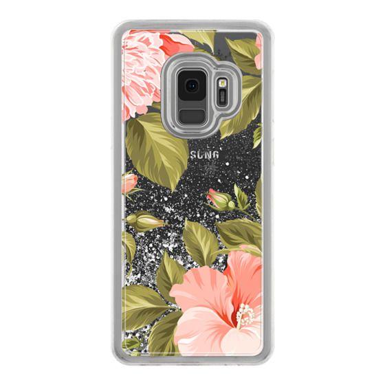 Samsung Galaxy S9 Cases - Peach Tropical Flowers - Beach Floral