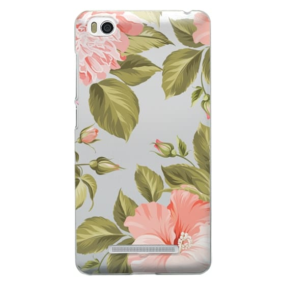 Xiaomi 4i Cases - Peach Tropical Flowers - Beach Floral