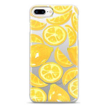 Snap iPhone 7 Plus Case - Watercolor Lemon Fruit - Citrus Yellow Tropical Fruit