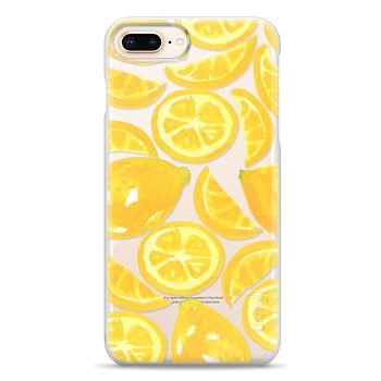 Snap iPhone 8 Plus Case - Watercolor Lemon Fruit - Citrus Yellow Tropical Fruit