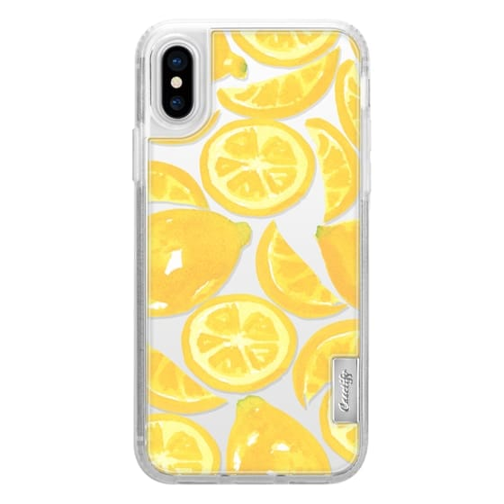 Watercolor Lemon Fruit - Citrus Yellow Tropical Fruit