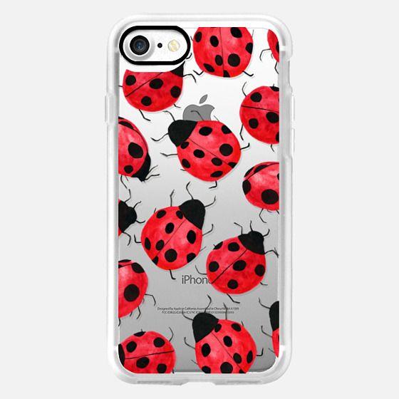 Cute Ladybug - Watercolor Ladybugs Red Black