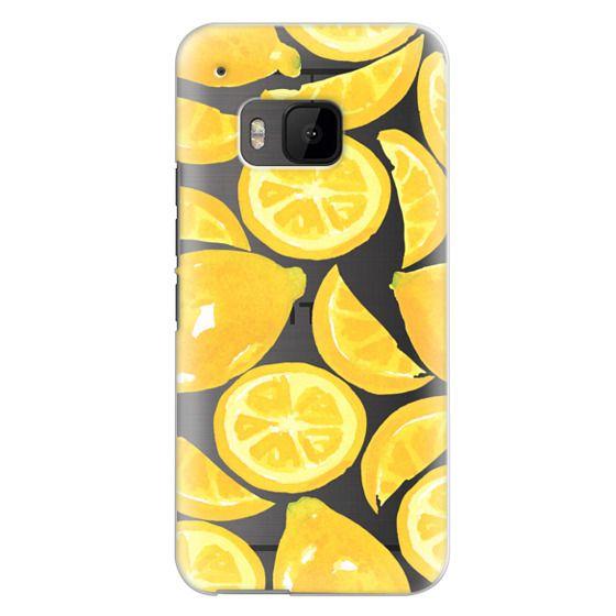 Htc One M9 Cases - Watercolor Lemon Fruit - Citrus Yellow Tropical Fruit