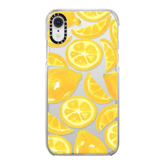 iPhone XR Cases - Watercolor Lemon Fruit - Citrus Yellow Tropical Fruit