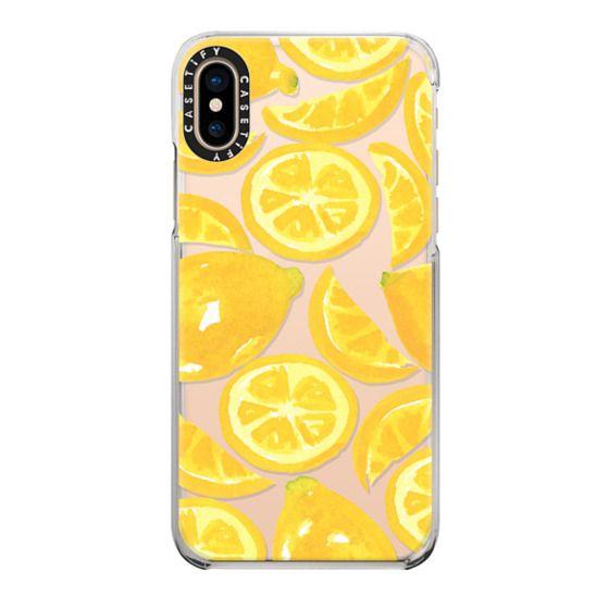 iPhone XS Cases - Watercolor Lemon Fruit - Citrus Yellow Tropical Fruit