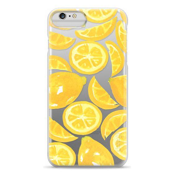 iPhone 6 Plus Cases - Watercolor Lemon Fruit - Citrus Yellow Tropical Fruit