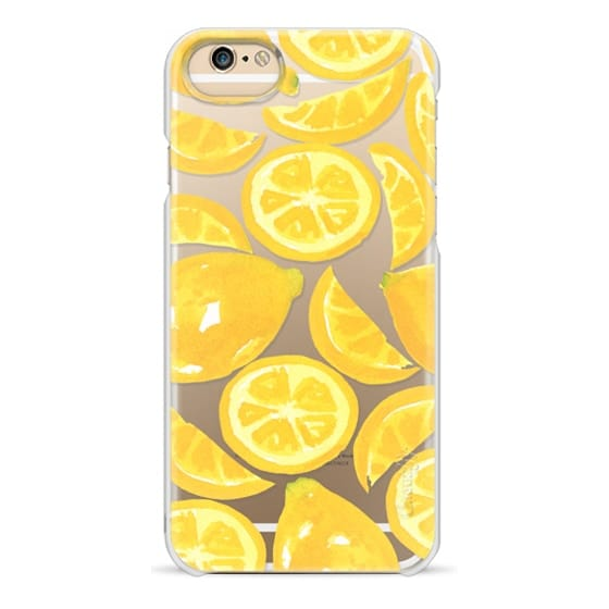 iPhone 6 Cases - Watercolor Lemon Fruit - Citrus Yellow Tropical Fruit