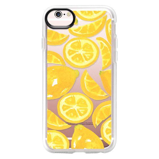 iPhone 6s Cases - Watercolor Lemon Fruit - Citrus Yellow Tropical Fruit