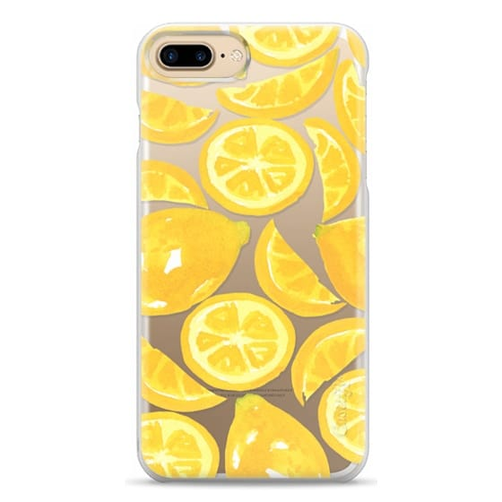 iPhone 7 Plus Cases - Watercolor Lemon Fruit - Citrus Yellow Tropical Fruit