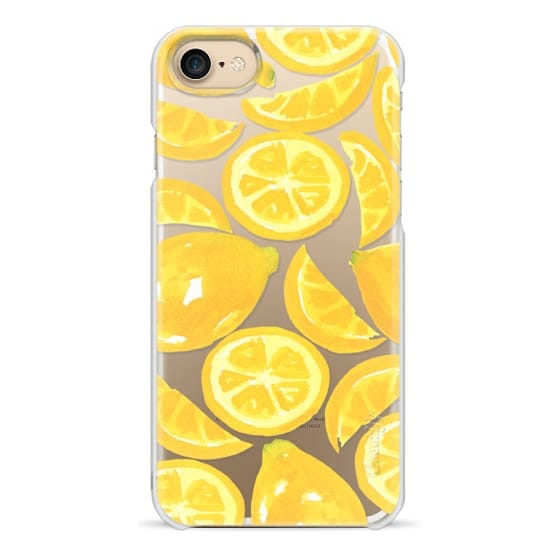 iPhone 7 Cases - Watercolor Lemon Fruit - Citrus Yellow Tropical Fruit