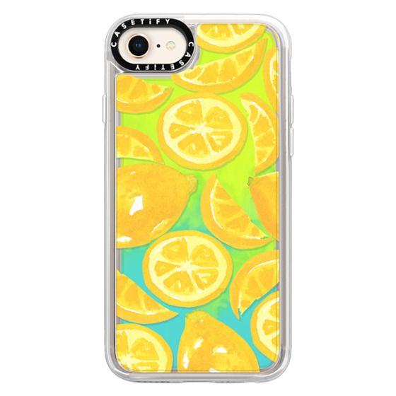 iPhone 8 Cases - Watercolor Lemon Fruit - Citrus Yellow Tropical Fruit