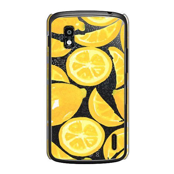 Nexus 4 Cases - Watercolor Lemon Fruit - Citrus Yellow Tropical Fruit