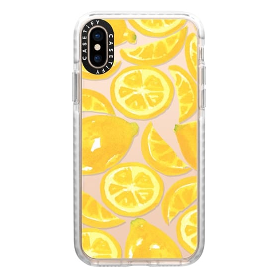 iPhone XS Cases - Watercolor Lemon Fruit - Citrus Yellow Tropical Fruit