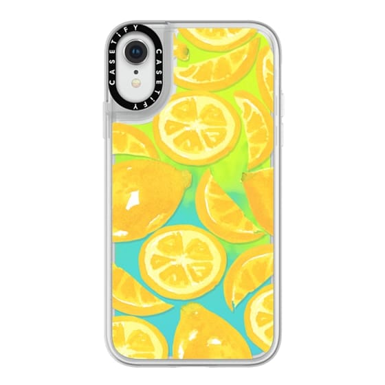 iPhone XR Cases - Watercolor Lemon Fruit - Citrus Yellow Tropical Fruit