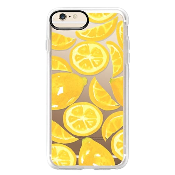 iPhone 6 Plus Cases - Watercolor Lemon Fruit - Citrus Yellow Tropical Fruit
