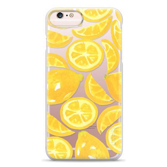 iPhone 6s Plus Cases - Watercolor Lemon Fruit - Citrus Yellow Tropical Fruit