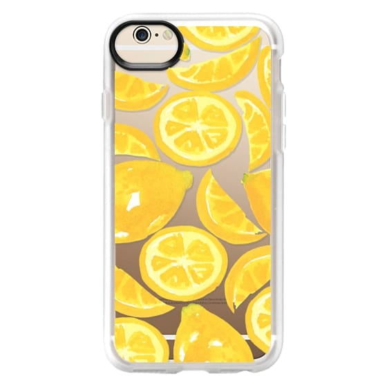 iPhone 6s Cases - Watercolor Lemon Fruit - Citrus Yellow Tropical Fruit