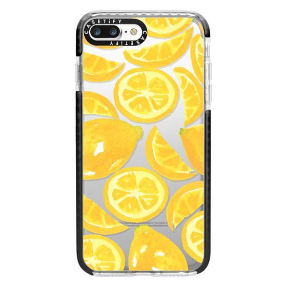 iPhone 7 Plus Cases - Watercolor Lemon Fruit - Citrus Yellow Tropical Fruit