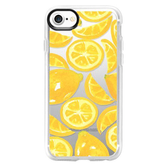 iPhone 4 Cases - Watercolor Lemon Fruit - Citrus Yellow Tropical Fruit