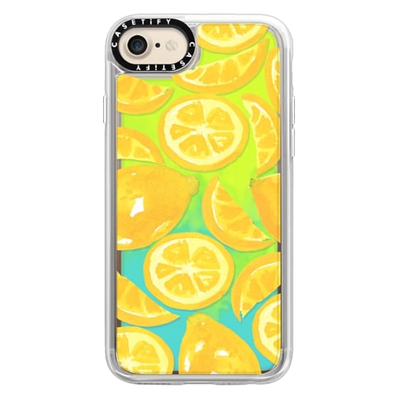 iPhone 7 Cases - Watercolor Lemon Fruit - Citrus Yellow Tropical Fruit