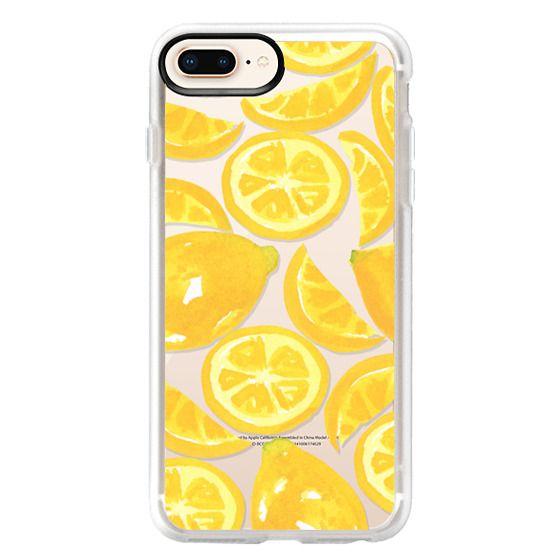 iPhone 8 Plus Cases - Watercolor Lemon Fruit - Citrus Yellow Tropical Fruit