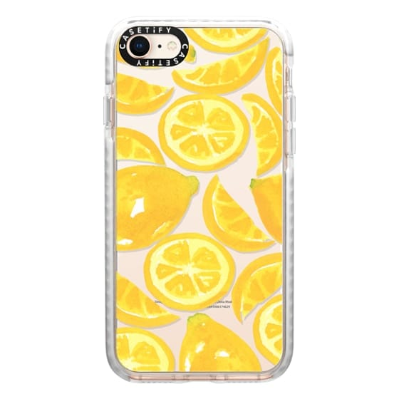 iPhone 8 Cases - Watercolor Lemon Fruit - Citrus Yellow Tropical Fruit