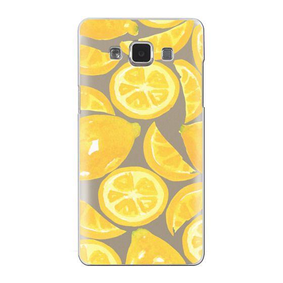 Samsung Galaxy A5 Cases - Watercolor Lemon Fruit - Citrus Yellow Tropical Fruit