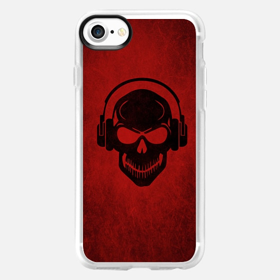 Skull with Headphones - Rave - Electro - Hardstyle -