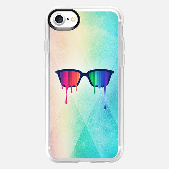 Love Wins! Rainbow - Spectrum (Pride) / Hipster Nerd Glasses - Wallet Case