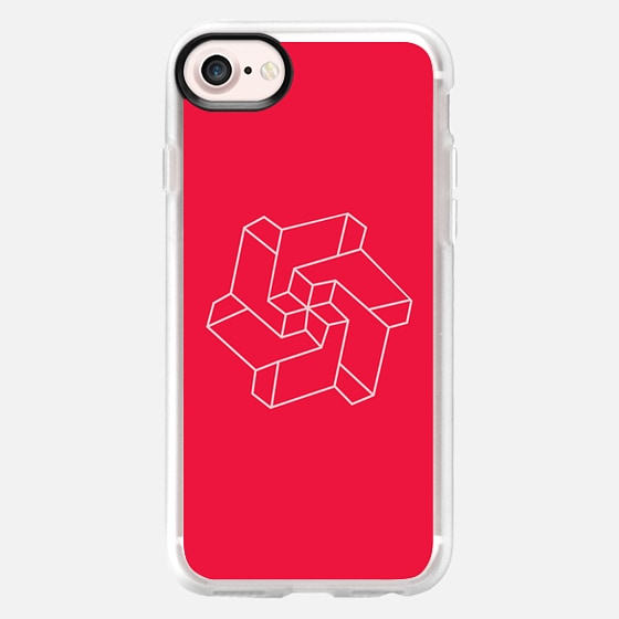 Minimal /  Chakra Symbol Art / Optical Illusion Star - Classic Grip Case